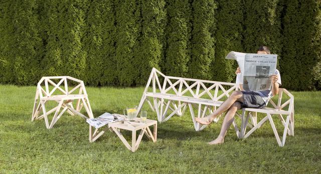"""Kolekcja mebli """"Bridge"""" inspirowana konstrukcją mostów, autorstwa designerów z pracowni wzornictwa VARIANT z Londynu"""