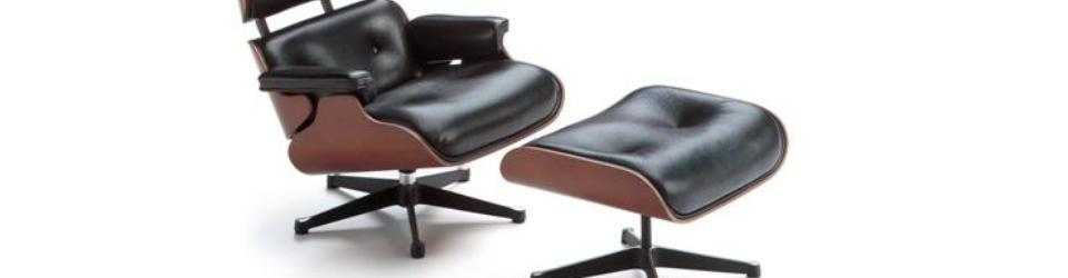 """Jeden z najbardziej designerskich mebli świata. Zestaw Eames Lounge (670) i Ottoman (671) - słynny """"król fotelów""""projektu Charlesa i Ray Eamesów z 1956 roku"""