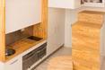 Małe mieszkanie - wnęka kuchenna. Zurita Loft, Madryt