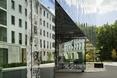 Wejście główne - Kompleks Allianz Headquarters autorstwa Wiel Arets Architects