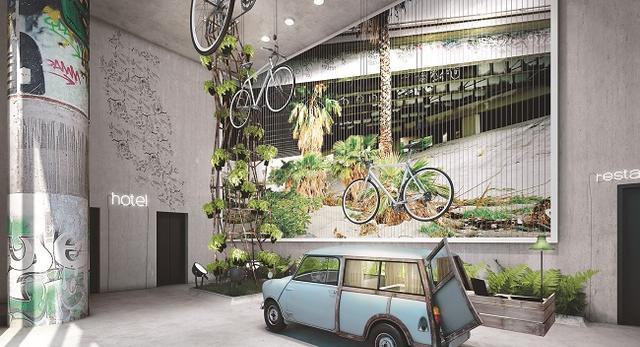 Architektura wnętrz w Berlinie. Hotel Bikini 25 Hours