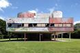 Północno - zachodnia elewacja. Villa Savoye Le Corbusiera - przeróbka artystyczna wg. Xaviera Delory