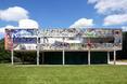 Południowo - zachodnia elewacja. Villa Savoye Le Corbusiera - przeróbka artystyczna wg. Xaviera Delory