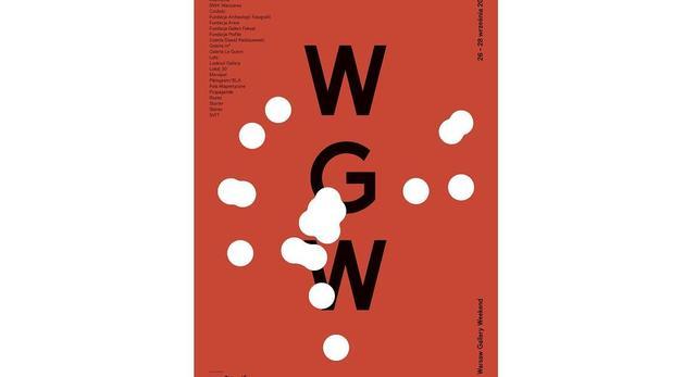 Plakat promujący 4. edycję Warsaw Gallery Weekend. Już w piątek, 26 września 1014