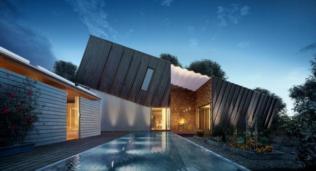 Dom pasywny ZEB Pilot House w Ringdalskogen (Norwegia) autorstwa pracowni architektonicznej Snøhett