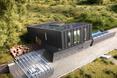 Bryła domu pasywnego ZEB Pilot House w Ringdalskogen (Norwegia) autorstwa pracowni architektonicznej Snøhett