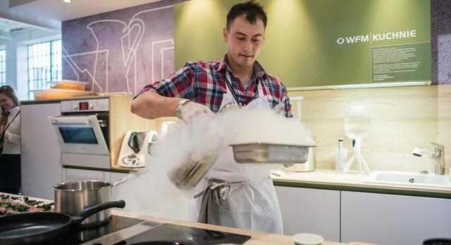 Pokaz kuchnii molekularnej podczas Łódź Design Festival 2013