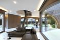 Część dzienna: kuchnia i salon - willa Moerkensheide w De Pinte w Belgii autorstwa Dieter De Vos Architecten
