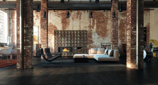 Architektura wnętrz loftu: podłoga postarzana Jean Marc Artisan