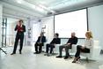 Zdjęcie z konferencji prasowej Pfleiderer i Interprint w Warszawie