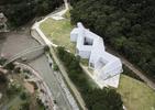 Muzeum sztuki malarskiej Changa Ucchina w Korei.  Dobitna bryła w subtelnym wydaniu