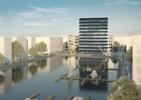 Projekt autorstwa duetu MVRDV i morePlatz zwyciężył w konkursie architektonicznym na dwa biurowce Hafenspitze w niemieckiej Moguncji