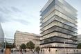 Wizualizacja - projekt dwóch biurowców w porcie Moguncji (Niemcy)  autor: pracownia architektoniczna MVRDV oraz morePlatz