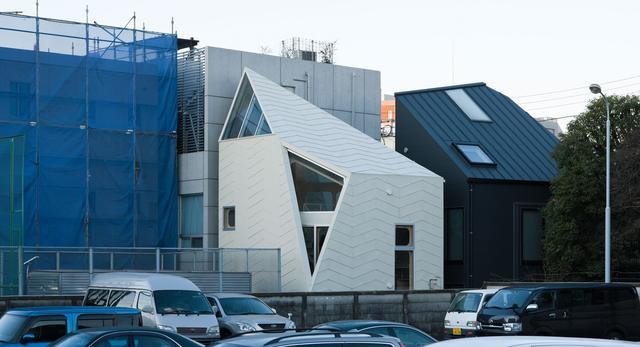 Bryła Tsubomi House ( Tokyo Bud House) - mały dom projektu biura FLAT HOUSE z Tokio