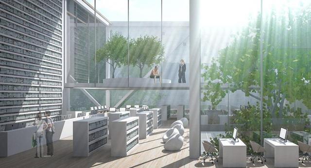 Architektura wnętrz nowej mediateki w Pile