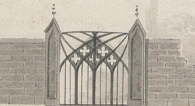 Neogotycka brama