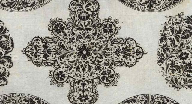 Maureska - projekty ornamentów, akwaforta