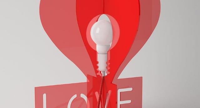 Bryła lampy LOVE marki Cleoni