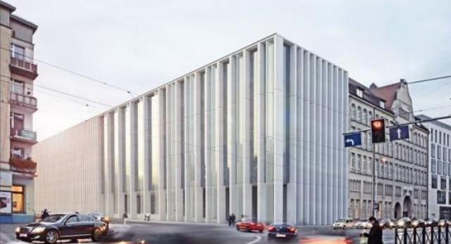 I. nagroda w konkursie architektonicznym na projekt Sądu Apelacyjnego we Wrocławiu.  Autorzy: UBERTO SIOLA & Partners z Neapolu oraz PIW PAW Architekci z Gdańska.