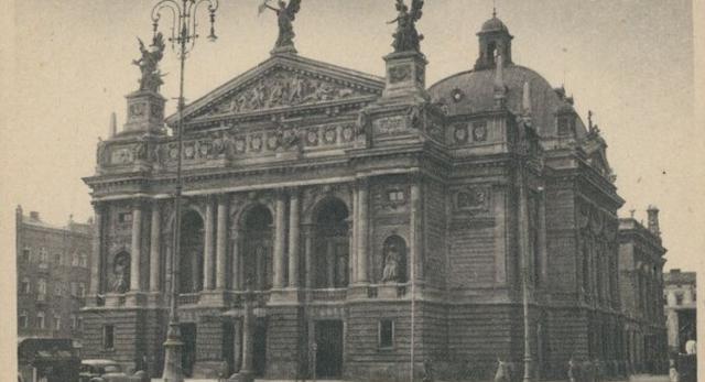 Neobarok w architekturze: elewacja teatru we Lwowie