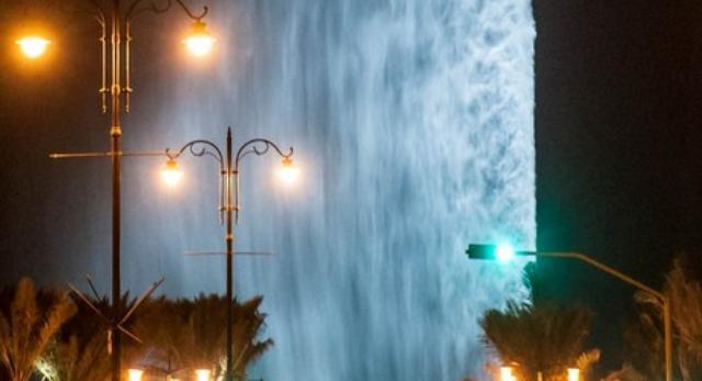 Współczesna architektura z wody? Fontanna Króla Fahda (Jeddah Fountain) w mieście  Dżudda w Arabii Saudyjskiej