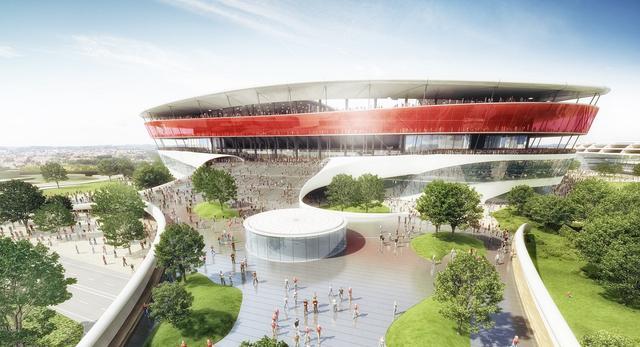 Nowa bryła stadionu w Brukseli, Belgia