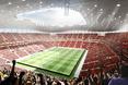 Wnętrze nowego stadionu w Brukseli