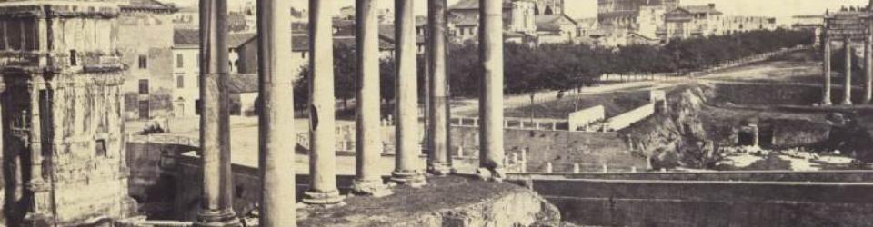 Świątynia Sturna na Forum Romanum, Rzym 1875. Fot. Polona
