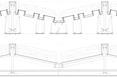 Rysunek techniczny detalu dachu  autor: holenderska pracownia KAAN Architecten