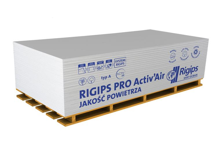 Płyty Activ'Air® na palecie, fot. Rigips