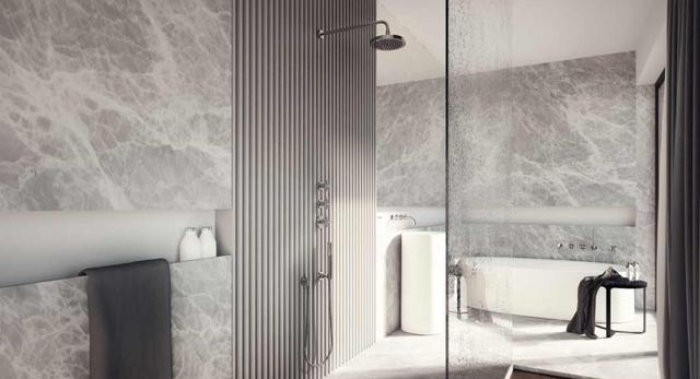 Classic - aranżacja wnętrza łazienki w Park Avenue Apartments