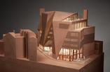 Cegła w architekturze współczesnej - makieta bryły centrum studenckiego w Londynie