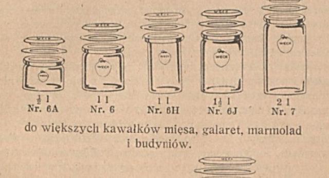 Sposób użycia konserwatorów firmy Weck i przepisy sporządzania konserw. Warszawa, 1929
