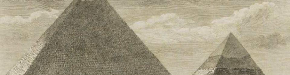Piramidy w Gizie. Według rysunku Stanisława Kostki Potockiego