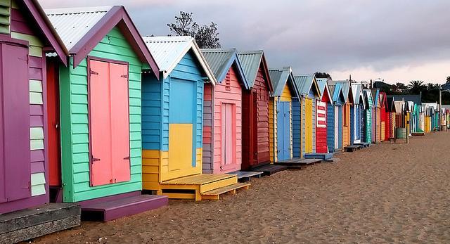 Kabiny plażowe w Australii