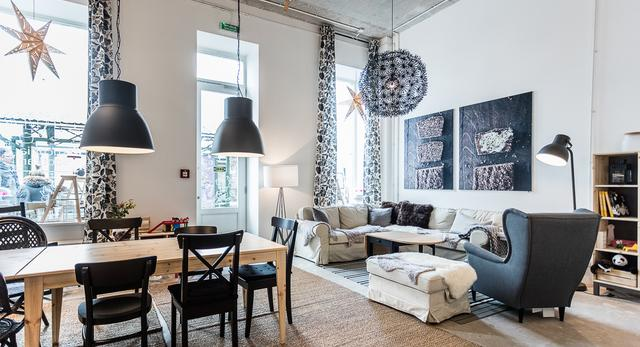 d coration salon w stylu ikea 11 rennes polski salon kosmetyczny w chicago salon w salon. Black Bedroom Furniture Sets. Home Design Ideas