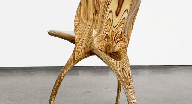 Bryła krzesła trójnoga projektu Ammara Kalo