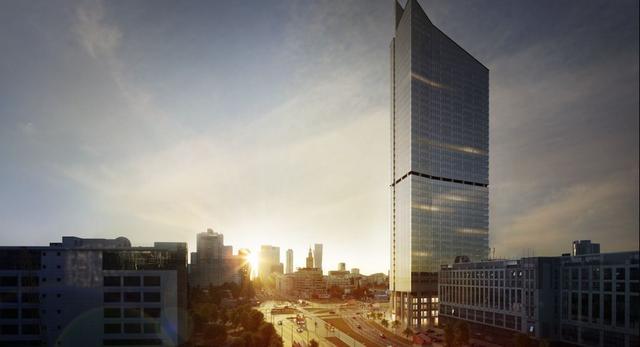 Skyliner. Nowy wieżowiec na Woli, niedaleko centrum Warszawy