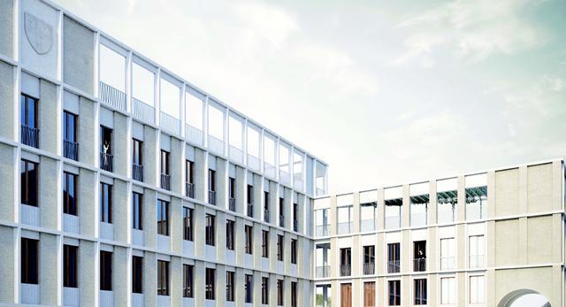 Biała bryła nowego budynku, kolegium św. Hildy, Oksford. Konkurs architektoniczny