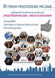 Zaproszenie - III Forum Przestrzenie Miejskie
