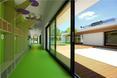 Korytarze przedszkola zaprojektowanego przez XY Studio