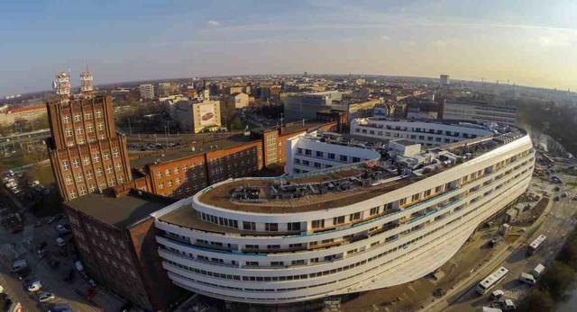 OVO Wrocław, początek 2016 roku. Budowa bloba prawie zakończona