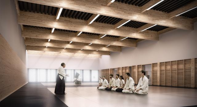 Architektura wnętrz przyszłego centrum sportowego UAM