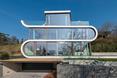 Elewacja Flexhouse, domu nad Jeziorem Zuryskim