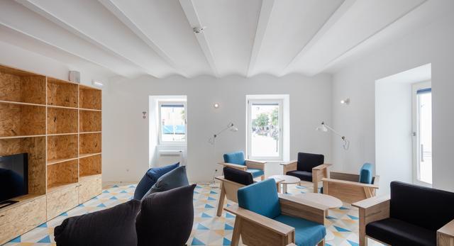Hostel Conii, architektura wnętrz