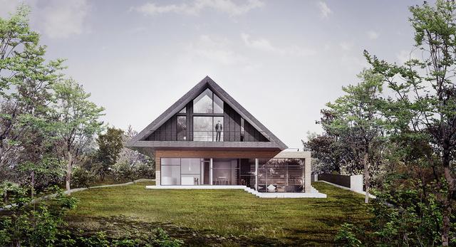 Projekt domu podcieniowego pod Krakowem
