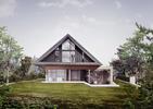 Nowoczesny dom podcieniowy od BXB Studio