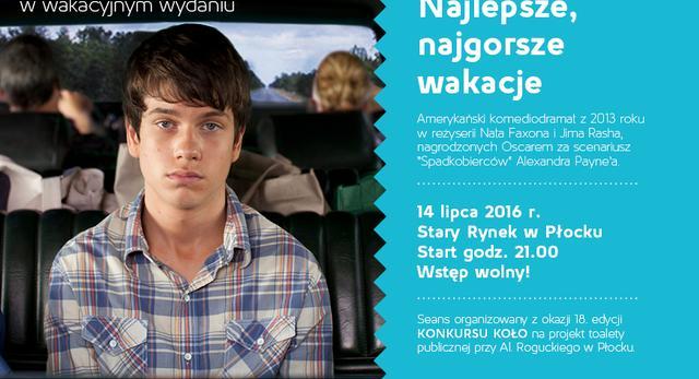 Kino plenerowe w Płocku. Najlepsze najgorsze wakacje