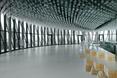 Sufit ze szklanych butelek. Architektura wnętrz  La cité du Vin