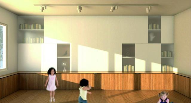 Salon w Gdyni - przedszkole. Architektura wnętrz